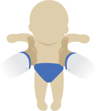 Baby icon - shoulder suspension